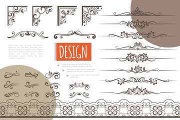 Wall Mural - Vintage Design Elements Collection