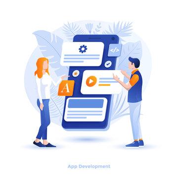 Flat color Modern Illustration design - App Design