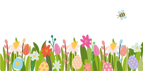 Vector Easter floral background.