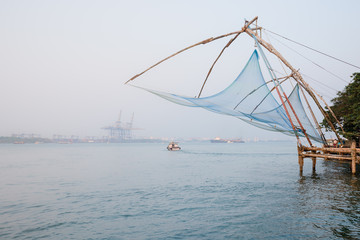 Fototapete - Chinese fishing net