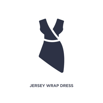 jersey wrap dress icon on white background. Simple element illustration from clothes concept.
