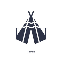 tepee icon on white background. Simple element illustration from desert concept.