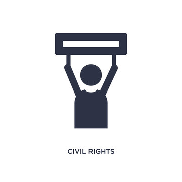 civil rights icon on white background. Simple element illustration from law and justice concept.