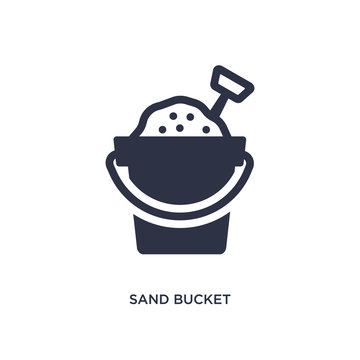 sand bucket icon on white background. Simple element illustration from summer concept.