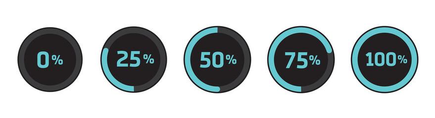 Loading preloader progress download bar internet design symbol icon flat isolated. Vector stock