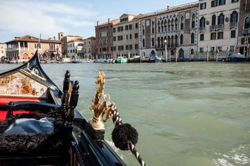 One of the many icons of Venice, gondolas
