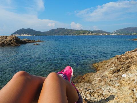 Elba - Laufen am Meer
