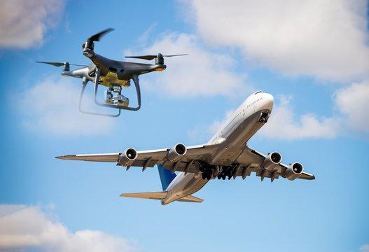 Gefahr durch Drohnen im Flugverkehr