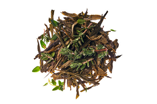 It's Japan tea sencha green and thyme is bulked around