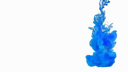 Cloud of ink underwater