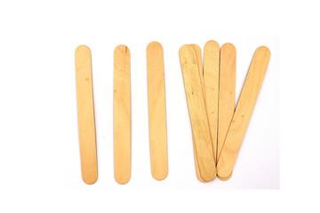 Ice cream wooden sticks, wood ice-cream stick Isolated on white background