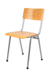 School chair isolated on white
