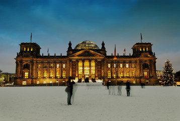 Berlin Reichstag in winter