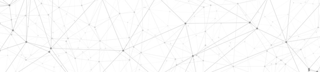 Abstract technology science connections vector grey dots and lines
