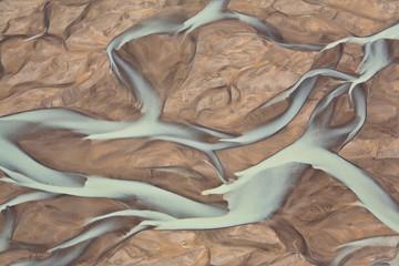 Abstract landscape, Bathurst Bay, Bylot Island, Nunavut, Canada.