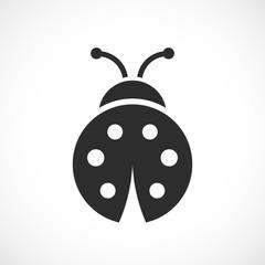 Fototapeta Ladybug vector icon obraz