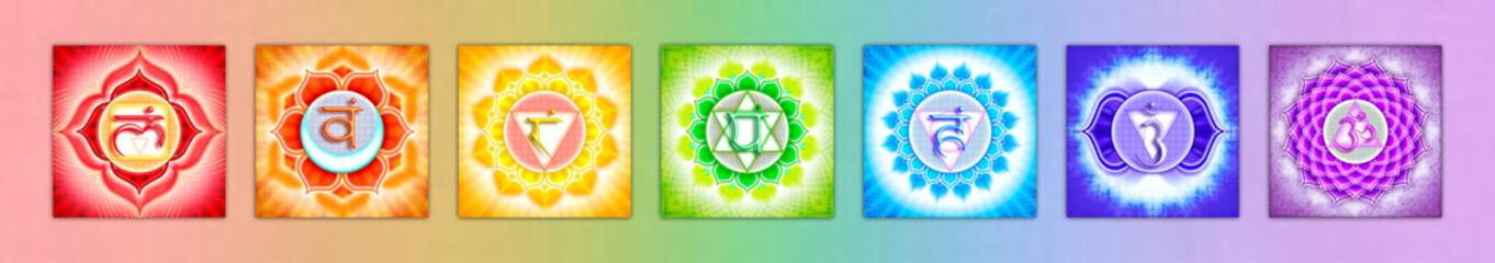 Die sieben Chakren Banner