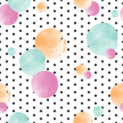 Foto auf Acrylglas Retro sign cute seamless kids pattern