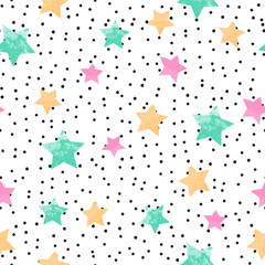 Fotobehang Retro sign cute seamless kids pattern
