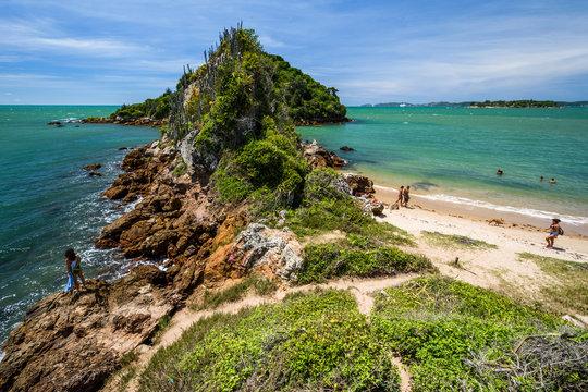 View from Rasa Beach in Buzios to Restinga Peninsula, Rio de Janeiro