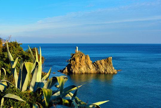 panorama of the coast of Savona Italy