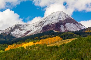 Fresh snow on Engineer Mountain, San Juan National Forest, Durango, Colorado.