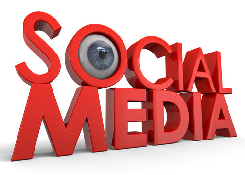 Social Media Are Spying You - 3D Concept
