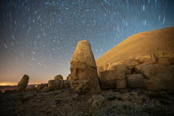 Nemrut mount, Turkey - Ancient stone heads representing the gods of the Kommagene kingdom