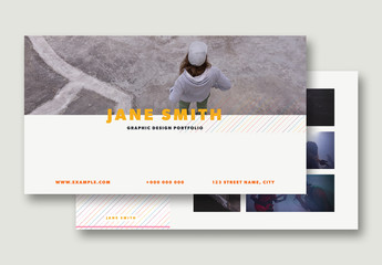 Portfolio Presentation Layout with Colorful Accents