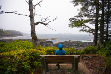 A viewpoint along the Wild Pacific Trail, Vancouver Island, British Columbia