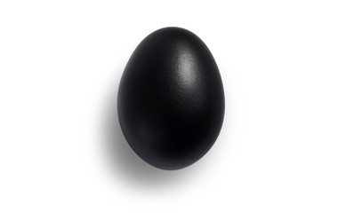 A concept New devil or evil will be born from black egg with shadow on left side of the egg