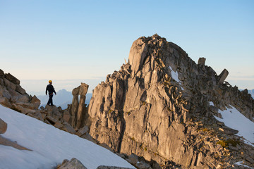 Mountaineer at Mount Rexford, Chilliwack, British Columbia, Canada
