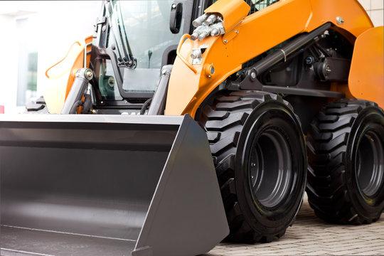Mini skid loader.  Small bulldozer. Construction machinery