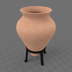 Jar vase on a holder