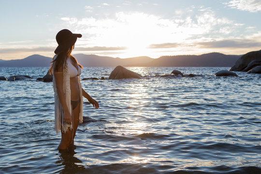 Tahoe at sunset