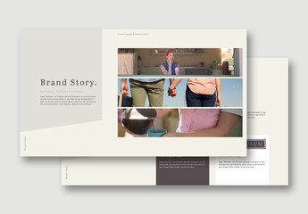Brand Manual Layout with Neutral Color Accents