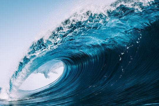 heavy and blue wave of Tenerife