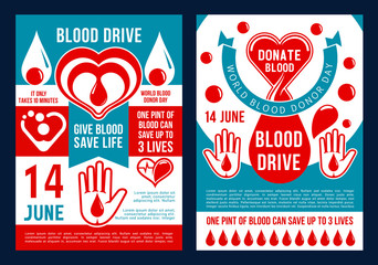 Vector brochure for world blood donor day