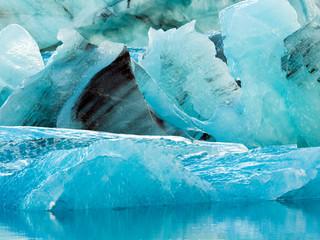 Ice chunks at Glacier Lagoon, Southern Iceland, Iceland