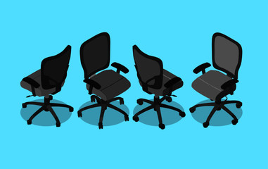 Isometric armchair isolated on white background. Vector illustration