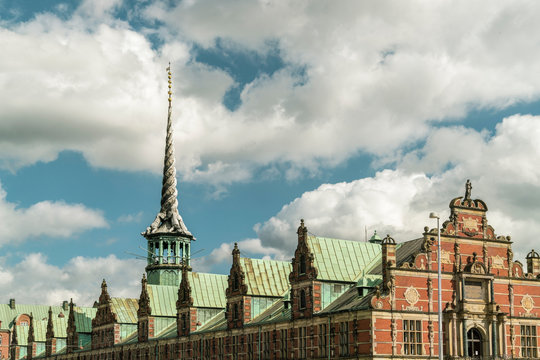 Borsen or former stock market with unique architecture, Copenhagen, Copenhagen, Denmark
