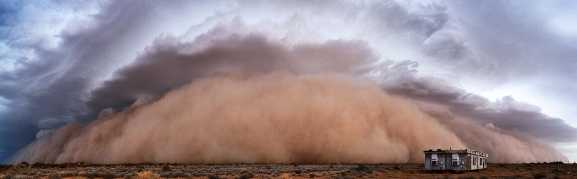 Dust storm panorama