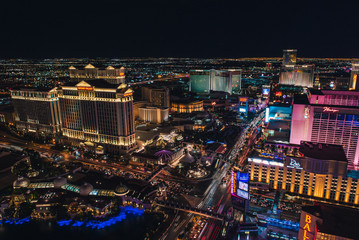 Photo sur Aluminium Las Vegas Las Vegas Strip from Eiffel Tower