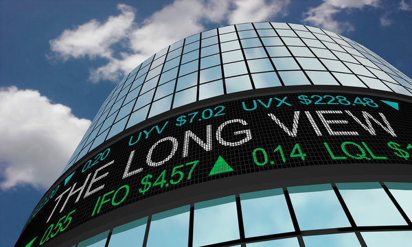 The Long View Extended Term Stock Market Ticker 3d Illustration