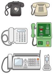 いろいろな固定電話機