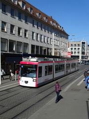 Strassenbahn in der Stadt