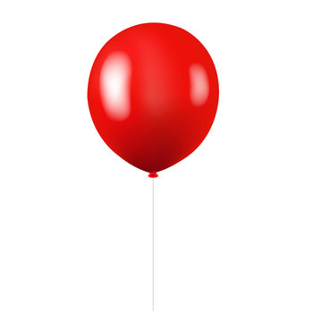 Red Balloon Isolated White background
