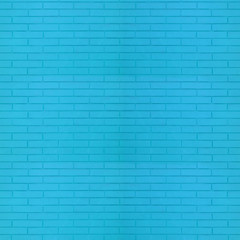 Blue color brick wall texture for graphic background images