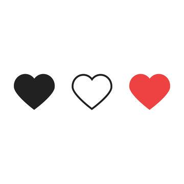 Hearts like love live icons