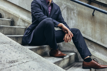 fashion details of man in suit